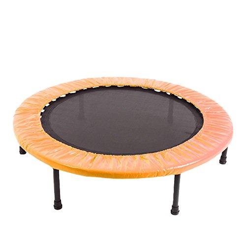 RIORES (リオレス) トランポリン 102cm 無地タイプ 耐荷重110kg 折り畳み式 家庭用 大人用 子供用 (オレンジ)