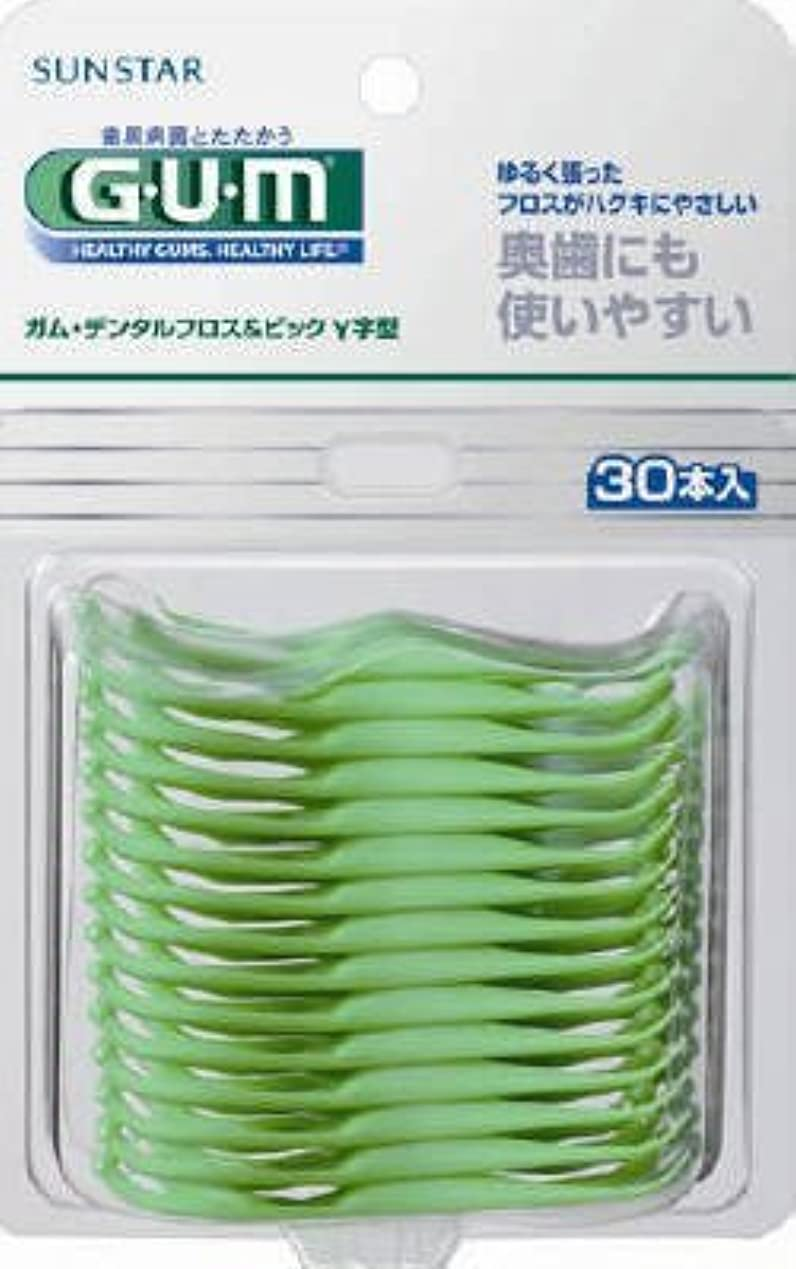 感謝する味操縦するガムデンタルフロス&ピックY字型30P × 10個セット