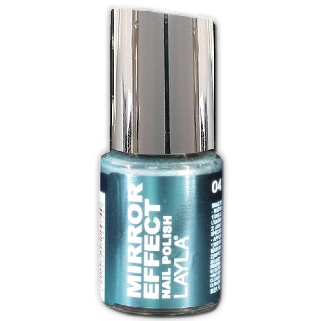継承明示的に圧倒するLayla Cosmetics Mirror Effect Nail Polish 04-Titanium Sky 10 ml
