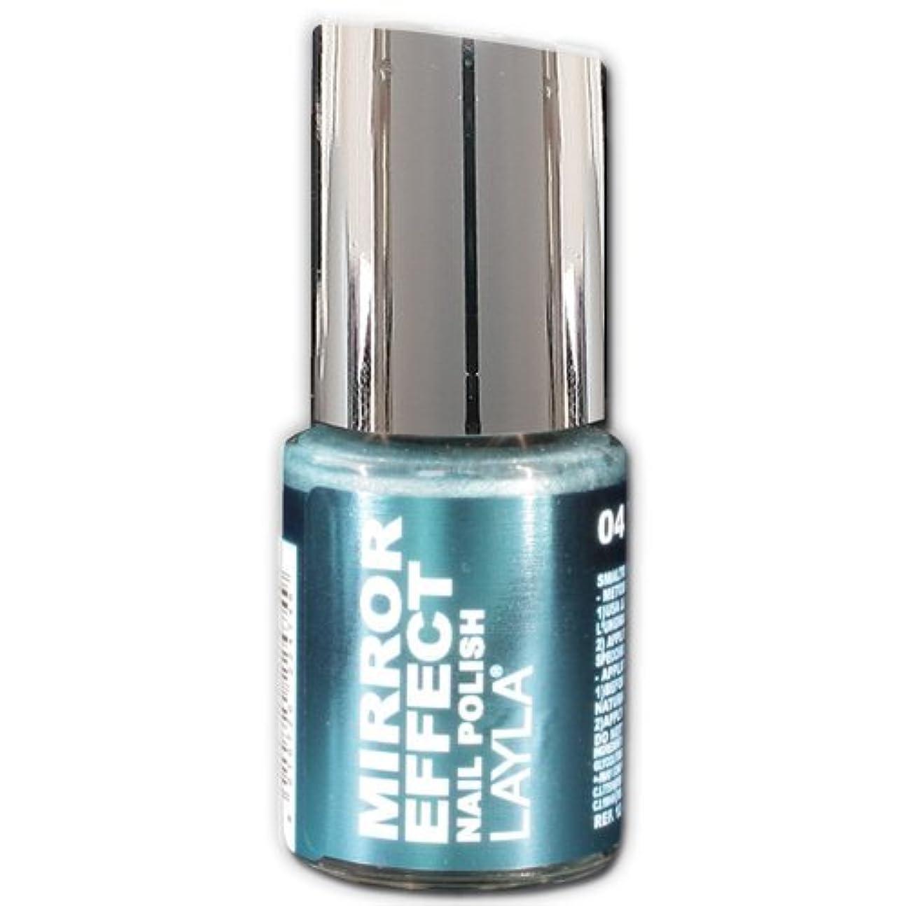 原油不機嫌そうなギャップLayla Cosmetics Mirror Effect Nail Polish 04-Titanium Sky 10 ml