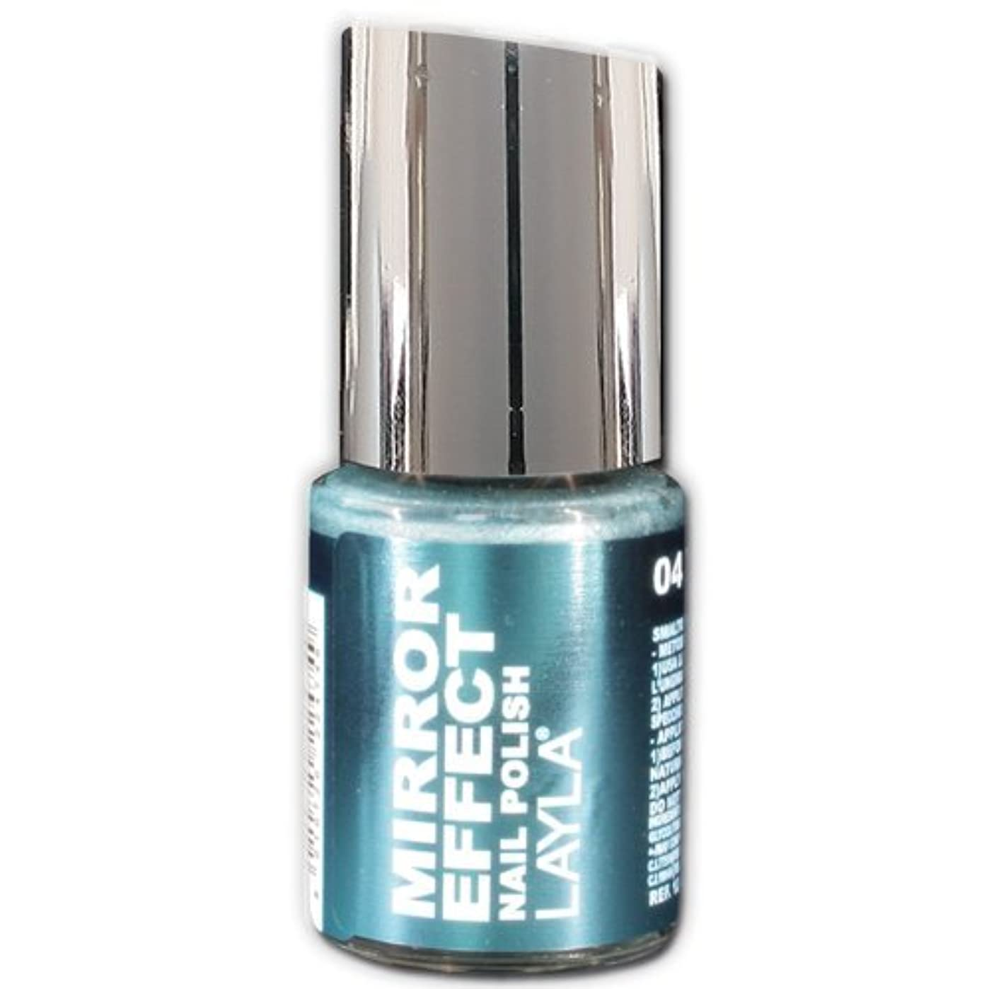 余韻販売員下Layla Cosmetics Mirror Effect Nail Polish 04-Titanium Sky 10 ml