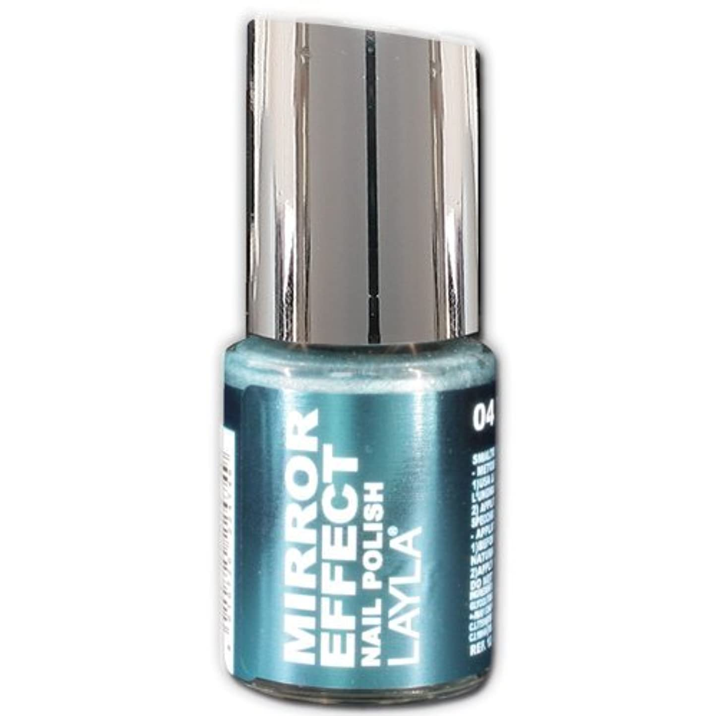 彼女のストッキング交通Layla Cosmetics Mirror Effect Nail Polish 04-Titanium Sky 10 ml