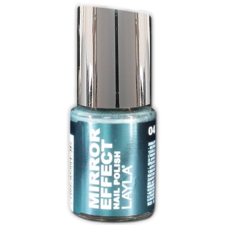 Layla Cosmetics Mirror Effect Nail Polish 04-Titanium Sky 10 ml