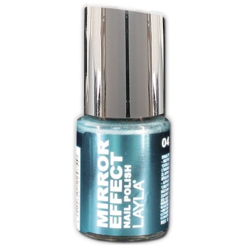素朴な袋頬Layla Cosmetics Mirror Effect Nail Polish 04-Titanium Sky 10 ml
