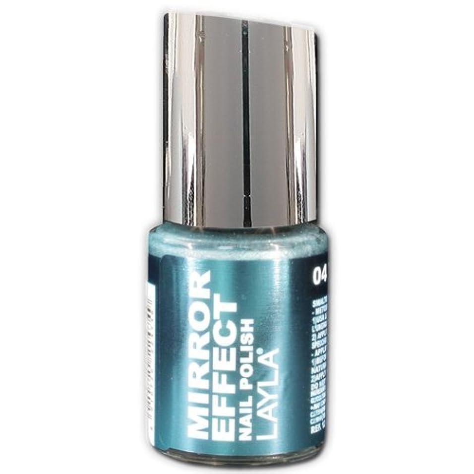 環境保護主義者トランスペアレント暖かさLayla Cosmetics Mirror Effect Nail Polish 04-Titanium Sky 10 ml