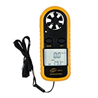 BENETECH 風速計 温度計 デジタル 風量計 GM816 多機能 風 テスター 小型風速計 ポケットアネモメータ 簡単 軽量コンパクト デジタル風量テスター