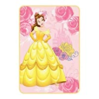 """Disney Belle""""Kind of Heart"""" 62"""" x 90"""" Kids Blanket [並行輸入品]"""