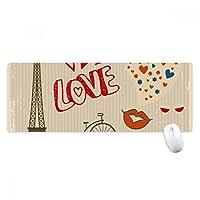 愛パリフランスエッフェル塔 ノンスリップゴムパッドのゲームマウスパッドプレゼント