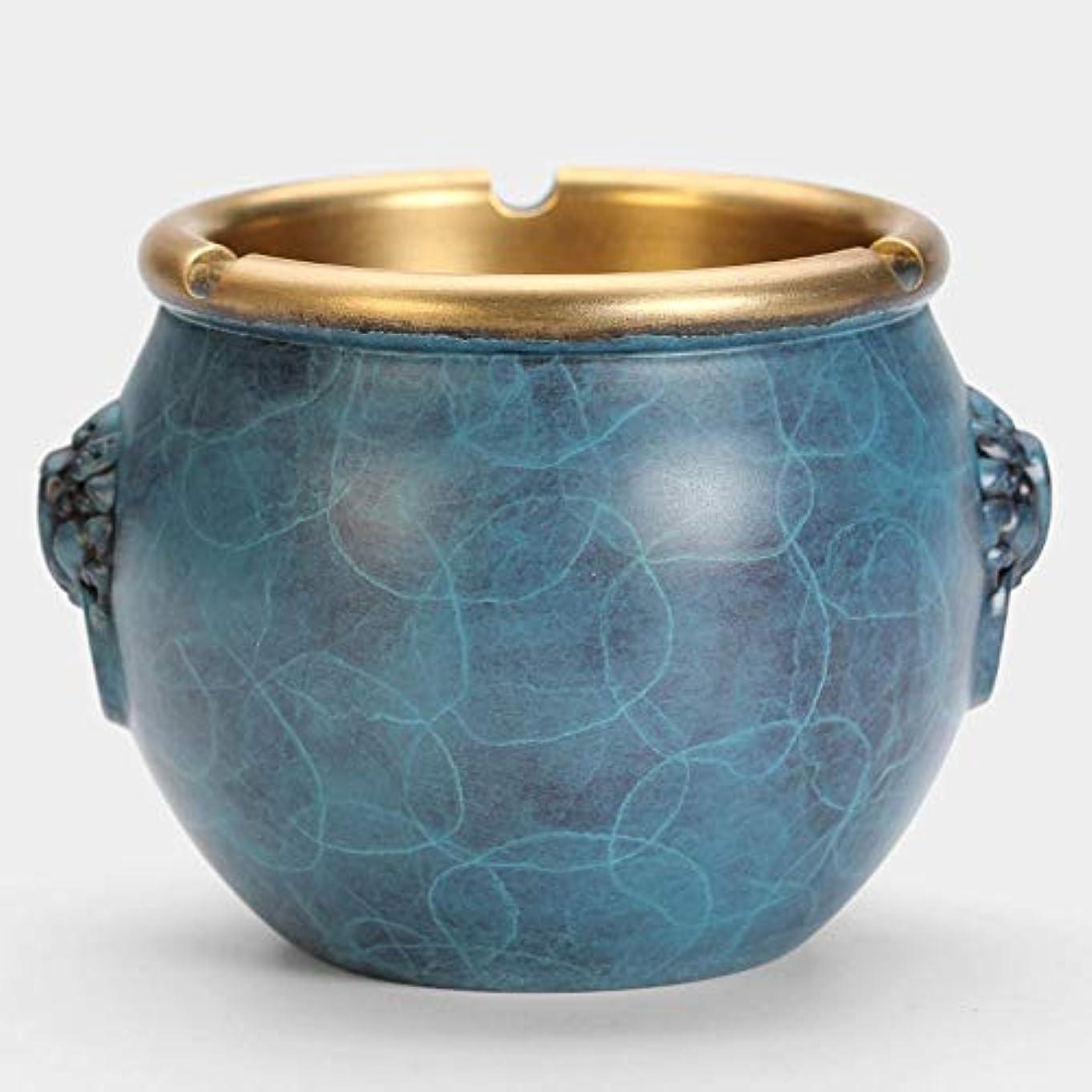 かなりの準備したシリンダー灰皿クリエイティブ純銅灰皿 (色 : 青)