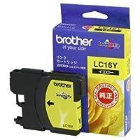 (まとめ) ブラザー BROTHER インクカートリッジ イエロー 大容量 LC16Y 1個 【×3セット】 〈簡易梱包