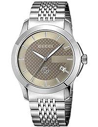 56f05715ce12 [グッチ]GUCCI 腕時計 Gタイムレス ブラウン文字盤 YA1264107 メンズ ...