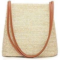 Women Handbag Straw Woven Tote Large Summer Beach Shoulder Bag