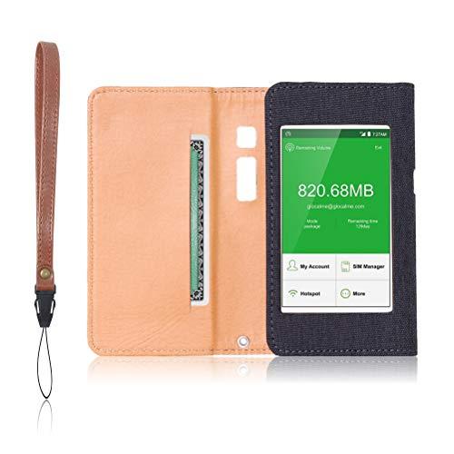 GlocalMe G3 専用 モバイルルーター ケース 保護フィルム 付 (チャコール)