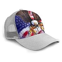 イーグルアメリカンフラグ 帽子 ベースボールキャップ メンズ レディース 多色 日除け 熱中症 通気 軽量 速乾 野球帽 旅行 カジュアル スポーツ メッシュ帽 個性 オールシーズン ユニセックス