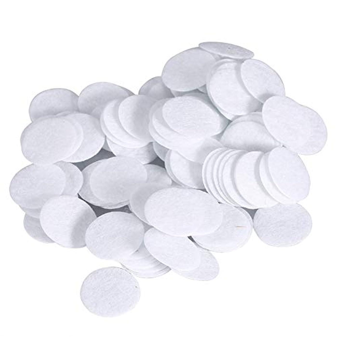 薬用ピンおいしい綿フィルターパッド にきび除去美容機用 100個 コットン 15mm