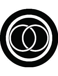 家紋シール 細輪に違い金輪紋 布タイプ 直径40mm 6枚セット NS4-1278