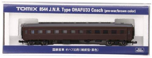 TOMIX Nゲージ 8544 国鉄客車 オハフ33形 (戦前型・茶色)