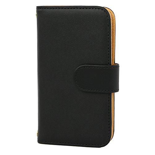 [スマ通] XPERIA XA F3113 / F3115 / F3116 スマホケース スマホカバー 携帯ケース 携帯カバー 手帳型 本革 ブラック SONY ソニー エクスペリア エックスエー SIMフリー 海外端末