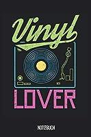 Notizbuch: Vinyl Lover Notizbuch, Musik Notebook, 120 Seiten blanko, 6x9, eckiger Buchruecken, Notizheft, Notenbuch, Gitarrenbuch, Schreibheft fuer Noitzen