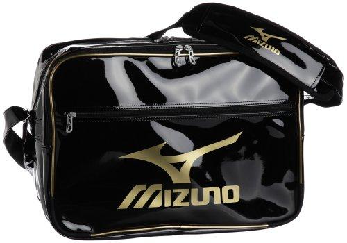 [ミズノ] MIZUNO エナメルバッグ(L) 16DA307 90 (ブラック×ゴールド×ゴールド)