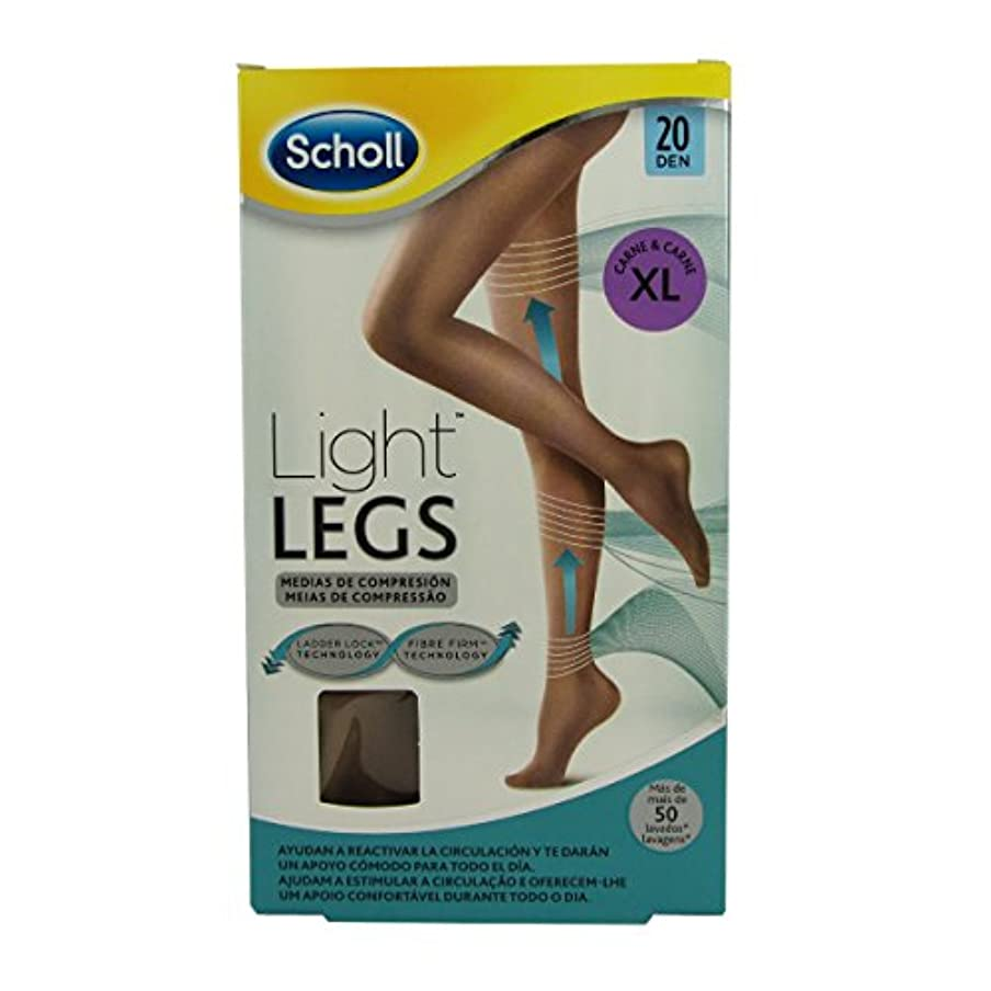 デコードするガイドライン重要Scholl Light Legs Compression Tights 20den Skin Extra Large [並行輸入品]
