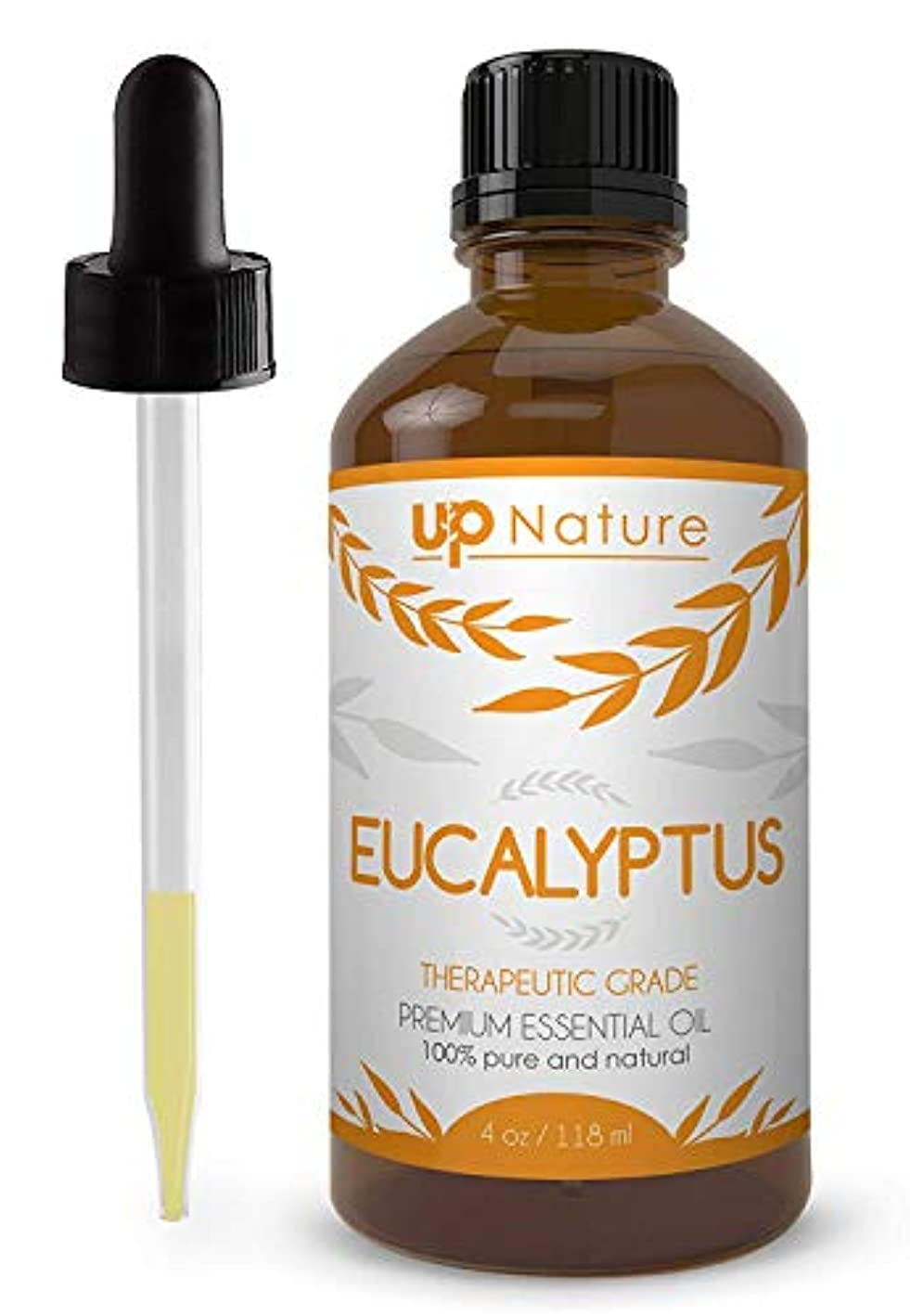 運搬暗黙早くUpNature The Best Eucalyptus Essential Oil 4 OZ - UpNature - 100% Pure & Natural, Premium Therapeutic Aromatherapy...