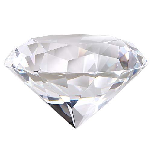OwnMy ダイヤモンド型クリスタルペーパーウェイト クリアクリスタルダイヤモンドジュエル ペーパーウェイト スパークリングガラス 宝石 センターピース 装飾 ギフトボックス付き ホーム オフィス ウェディング装飾