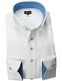RSD178-007 (スタイルワークス) メンズ長袖ワイシャツ カッタウェイ ワイドカラー ストライプ | 白