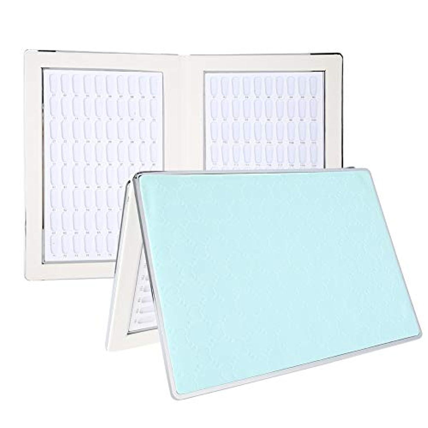フリッパー強化テクトニックネイルアートディスプレイ 160 ディスプレイスタンド アクセサリー プラスチック板 ネイルポリッシュカラー ディスプレイ サロン (2)