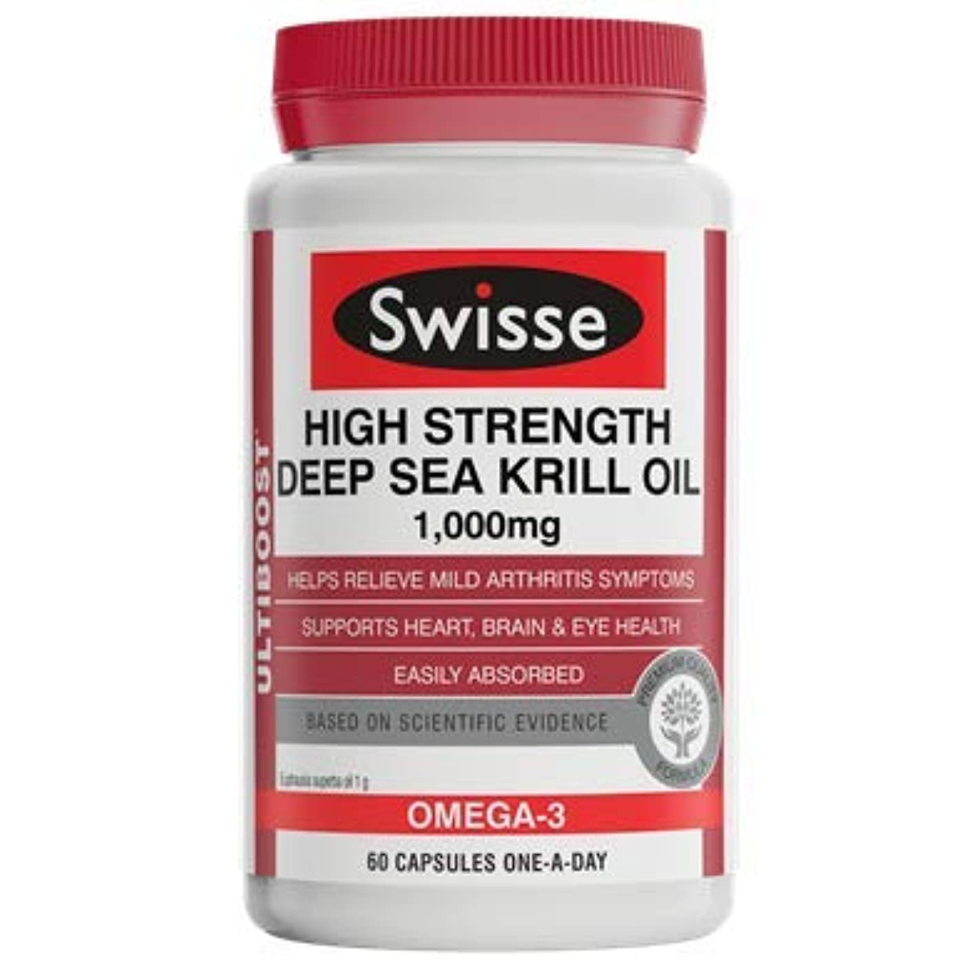 許容サージ因子Swisse アルティブースト 高強度深海オキアミオイル1000mg 60カプセル [海外直送品] [並行輸入品]