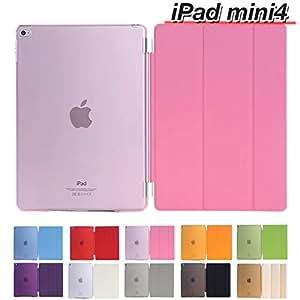 MS factory iPad mini 4 スマート カバー バック ケース 全10色 iPad mini4 ピンク IPDM4-SSET-PK