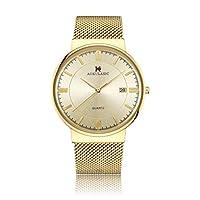 美しい機械時計Akulasic / 698メンズクォーツ時計ステンシル日付ウォッチ