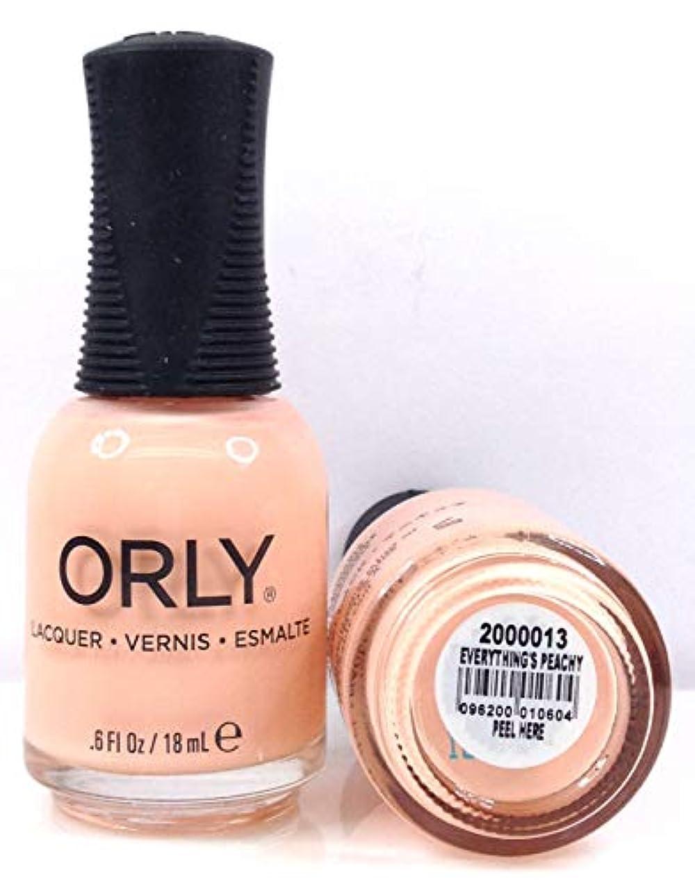 ブランドラッシュ意識的Orly Nail Lacquer - Radical Optimism 2019 Collection - Everything's Peachy - 0.6 oz / 18 mL