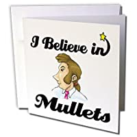 Dooni Designs I Believe In–I Believe In Mullets–グリーティングカード Individual Greeting Card