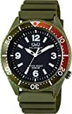 [シチズン Q&Q] 腕時計 アナログ ソーラー 防水 ウレタンベルト H064-006 メンズ カーキ