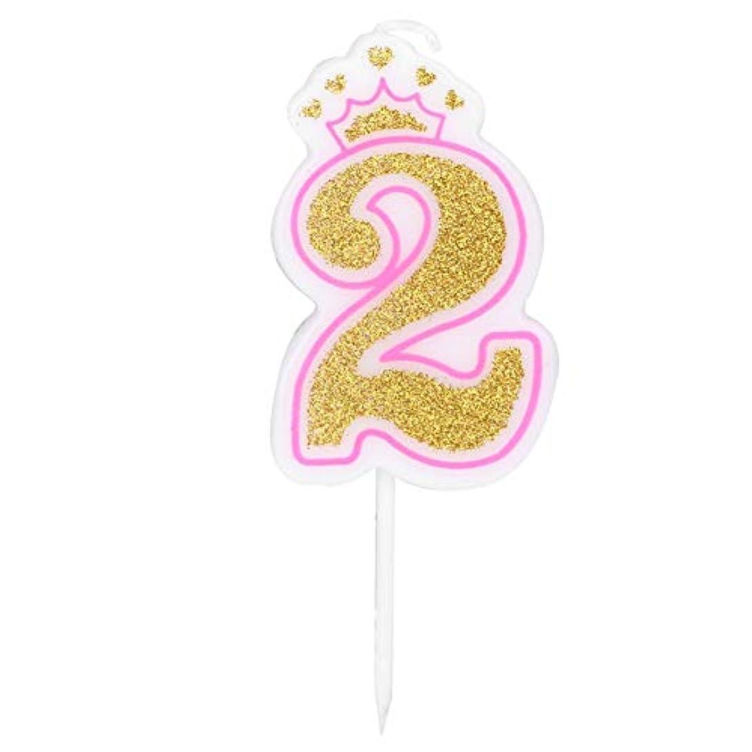 地上の計画なのでお誕生日キャンドル Vobar キャンドル バースデイ 記念日 イベント用 0~8 (サイズ : 二歳)