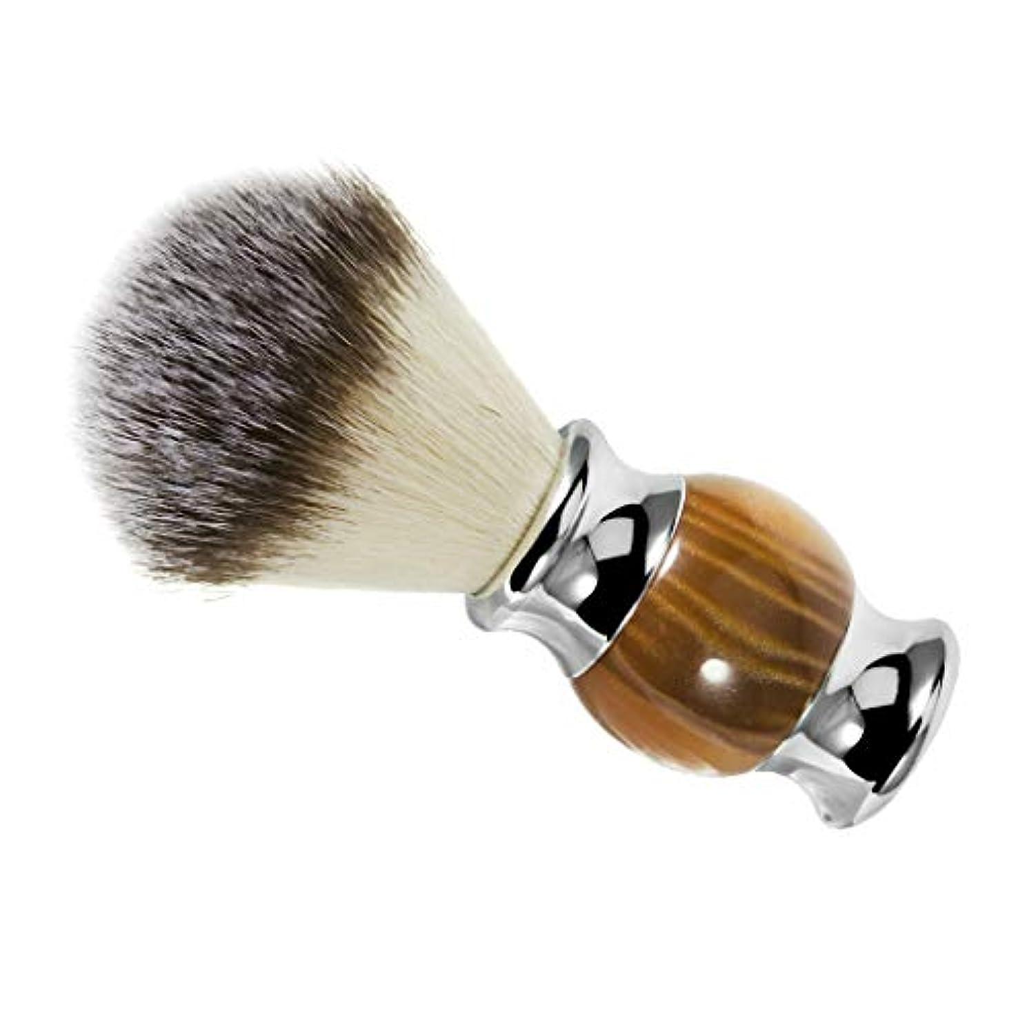 咳洞察力のある長くするシェービングブラシ ひげ剃りブラシ 口ひげブラシ 理髪サロン 髭剃り ひげ剃り 泡立ち