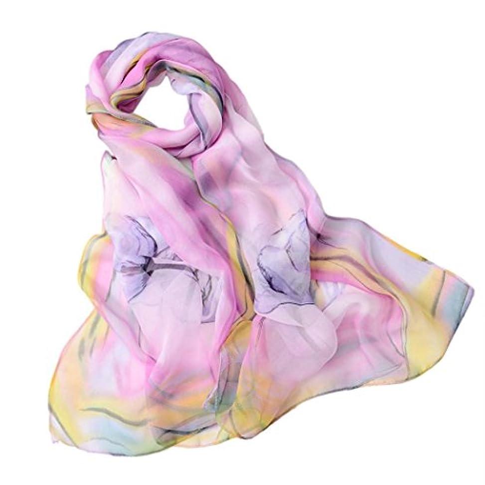 安心させる一月登録するGoenn レディース スカーフ シフォン 大判 薄手 カラフル おしゃれ 女性用 ファッション UVカット 冷房対策 日焼け止め 海辺 旅行 通勤用