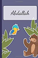 Abdallah: Personalized Notebooks • Sketchbook for Kids with Name Tag • Drawing for Beginners with 110 Dot Grid Pages • 6x9 / A5 size Name Notebook • Perfect as a Personal Gift • Planner and Journal for kids