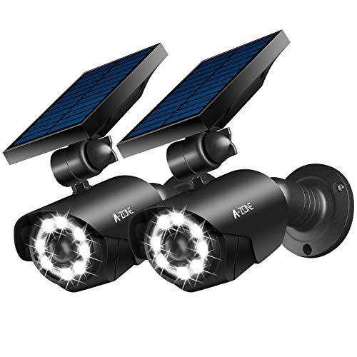 センサーライト 屋外 ソーラー ソーラーライト センサーライト 防犯カメラ型 ソーラー式で電源不要 IP66防水・防塵 ソーラーライト 屋外 人感センサー 太陽光充電 おしゃれ ダミーカメラ 8LED 屋外 ガーデン ライト 夜間点灯 人感検知 配線不要 角度調節可能 壁掛け庭先 玄関周りなど対応 2個セット(ブラック)