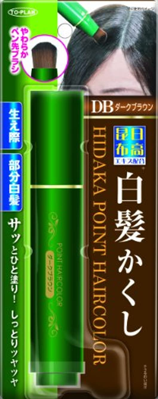 糸回答日焼けTO-PLAN(トプラン) 日高昆布部分白髪かくし ダークブラウン 筆ペンタイプ