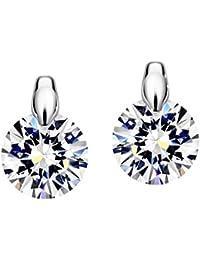 (ネオグロリー)Neoglory Jewelry レディース 大粒 ダイヤモンド AAA級ジルコン キラキラ スタッドピアス「ホワイト」