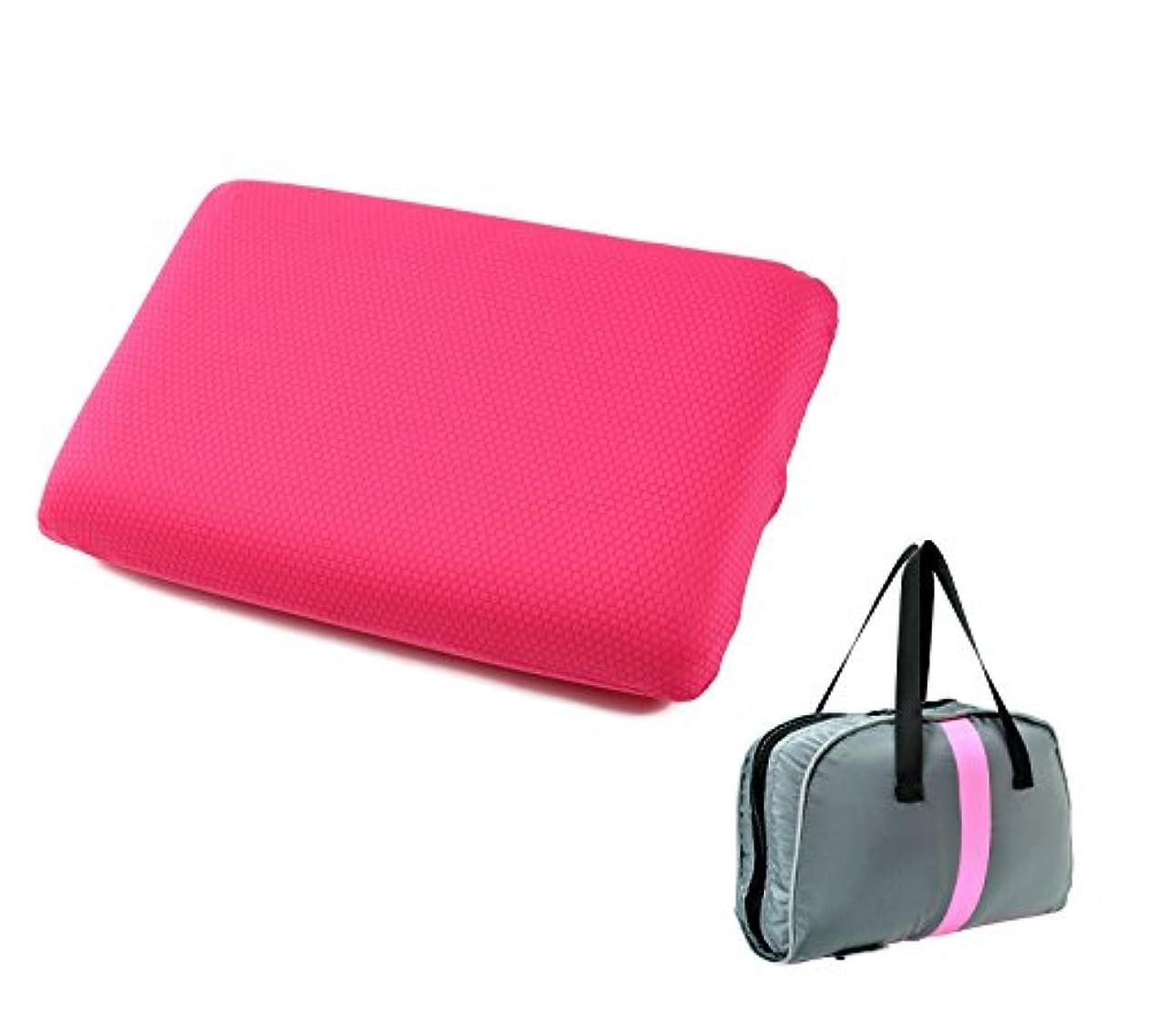 たるみ受粉者義務付けられたFoppery 低反発 クッション 携帯まくら 携帯座布団 腰あて 多機能クッション バッグ型に収納可能 折りたたみ 座布団 持ち運び に 便利