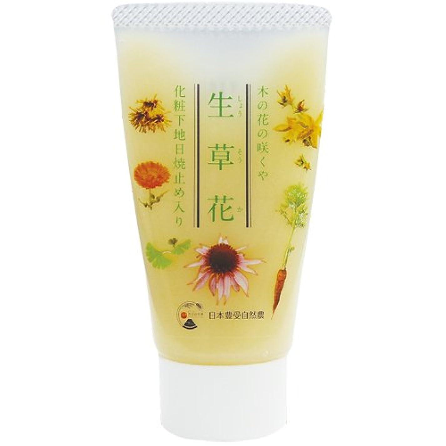 同情的おもちゃ絶妙日本豊受自然農 木の花の咲くや 生草花 化粧下地 日焼け止め入り 30g