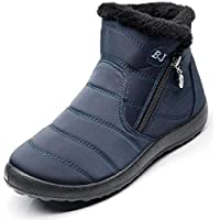 Dear Time Warm Snow Boots for Women Waterproof Winter Fur Lined Short Ankle Boots