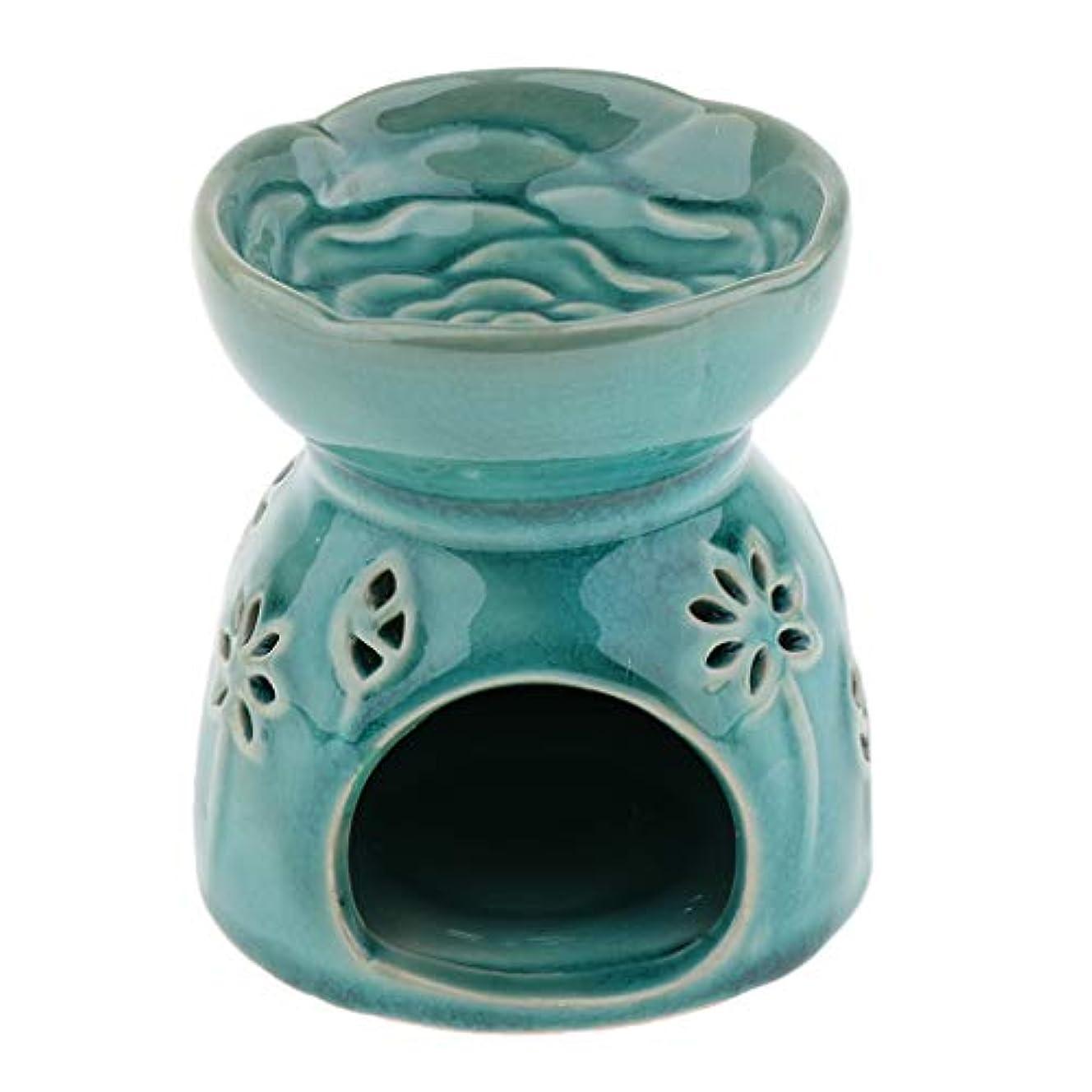 地域居住者眉全2色 アロマディフューザー エッセンシャルオイルディフューザー バーナー 陶器 置物 インテリア - 青