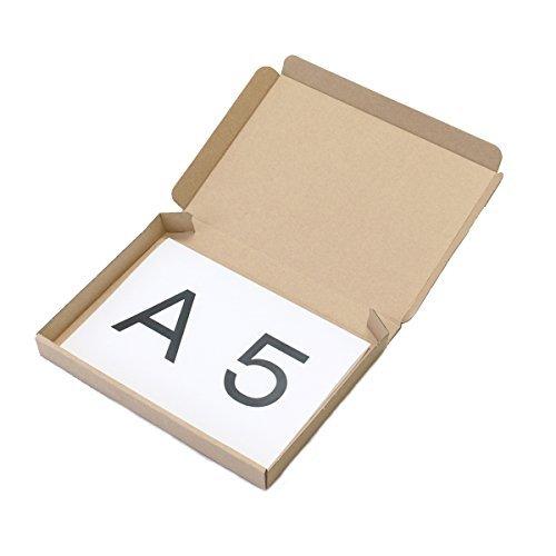 A5サイズ 厚さ25㎜ 薄型ダンボール箱 10枚セット NO.0274
