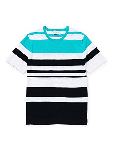 (プリングル 1815) PRINGLE 1815 マルチカラーボーダーニットTシャツ S1N75322__ 40 ブルー(24)