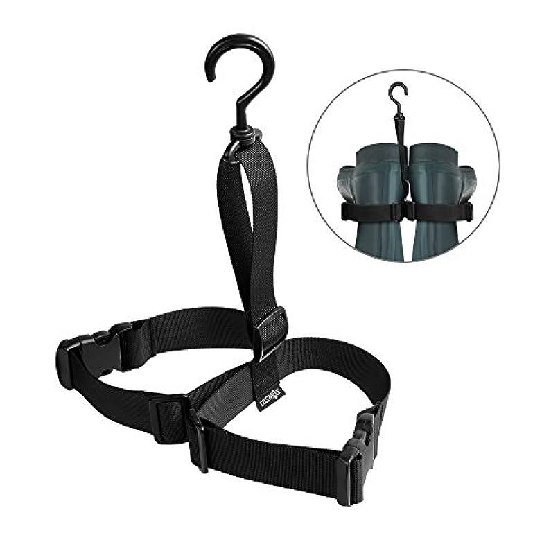 疎外する著者マネージャーCM COSMOS Fishing Wader Boots Hanger Adjustable Wader Boots Strap Belt Hanger for Drying Wader Rack Storage