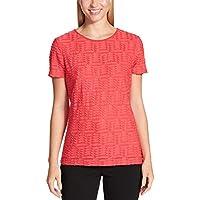 Calvin Klein Women's Stretch Textured Shirt (Watermelon Medium)